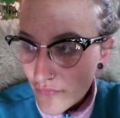 Schwarze Vintage Brille2