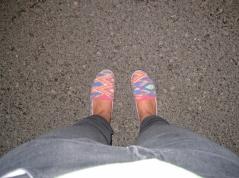 Braune Füße