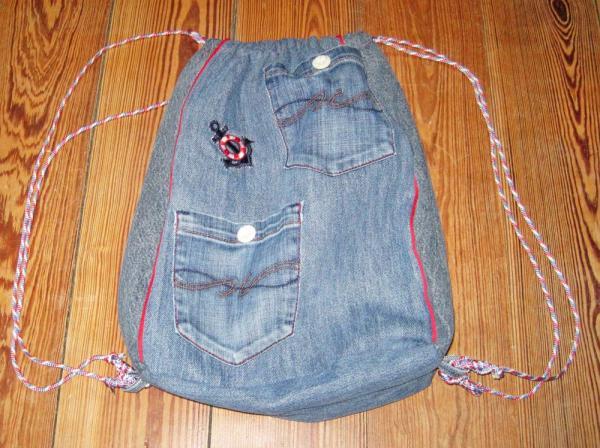 Jeans-Turnbeutel