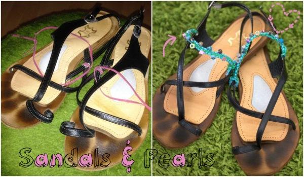 Sandalen: Vorher & Nachher