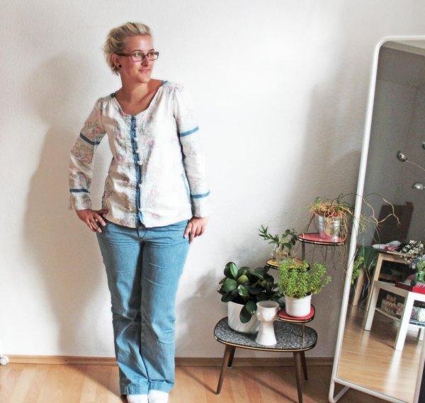 Nachher: Tunika-Bluse