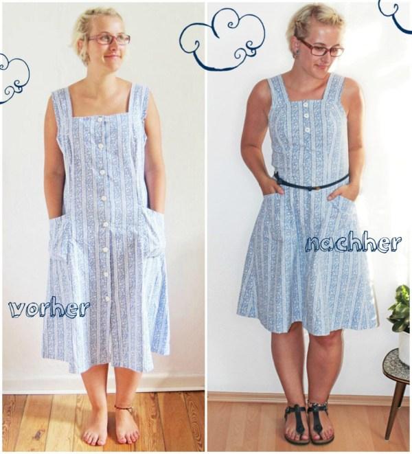 Refashion: Kleid vorher - nachher