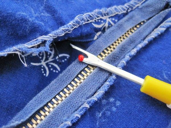 Refashion: Blauer Bauernrock