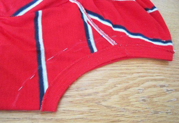 Refashion: Vintage Shirt with Stripes