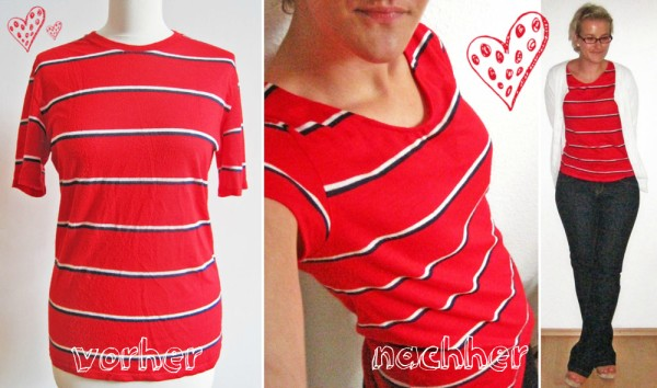 Refashion: Vintage Shirt - vorher-nachher