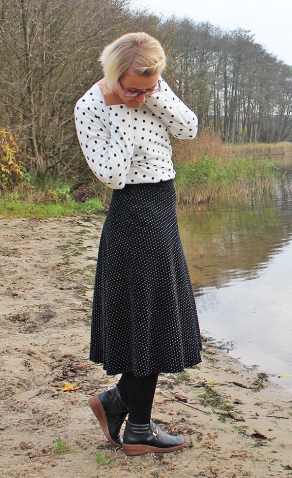 Outfit: Gepunktet