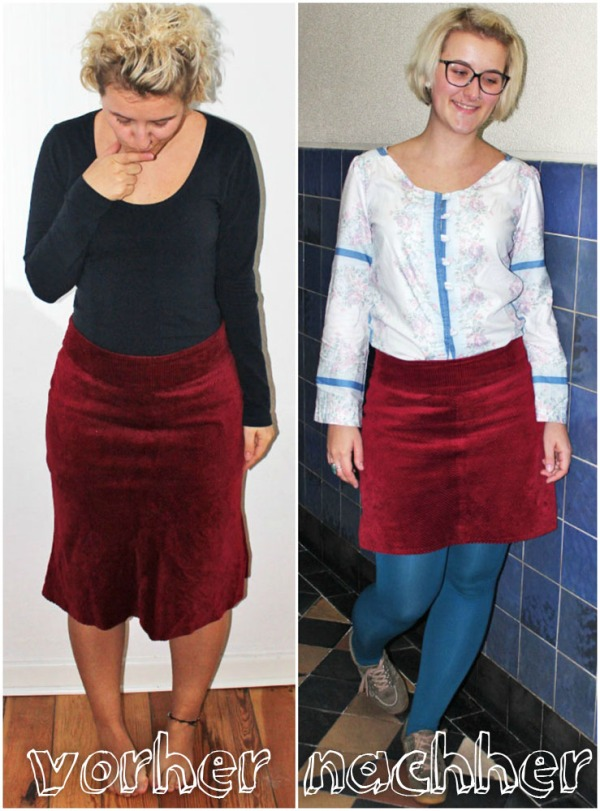 Refashion: Roter Cordrock