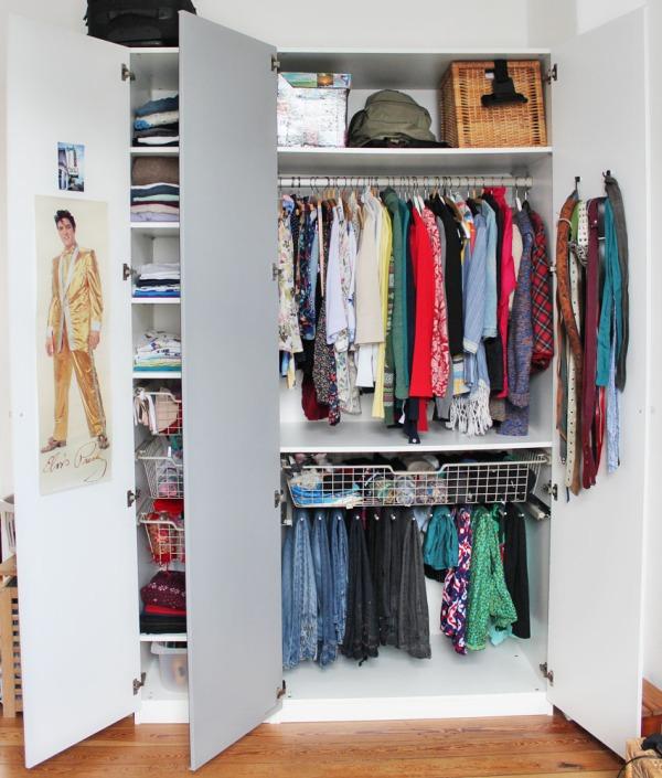 transformation eines kleiderschrankes oder endlich mal. Black Bedroom Furniture Sets. Home Design Ideas