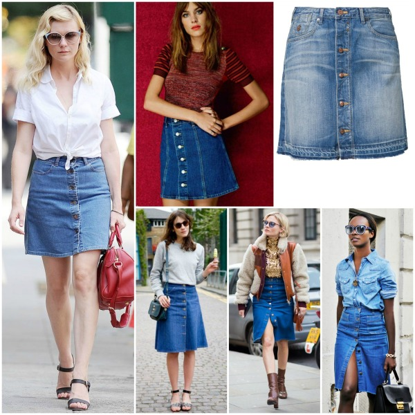 Inspiration: Jeans Button-Down Skirt