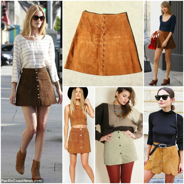 Inspiration: Leder Button-Down Skirt