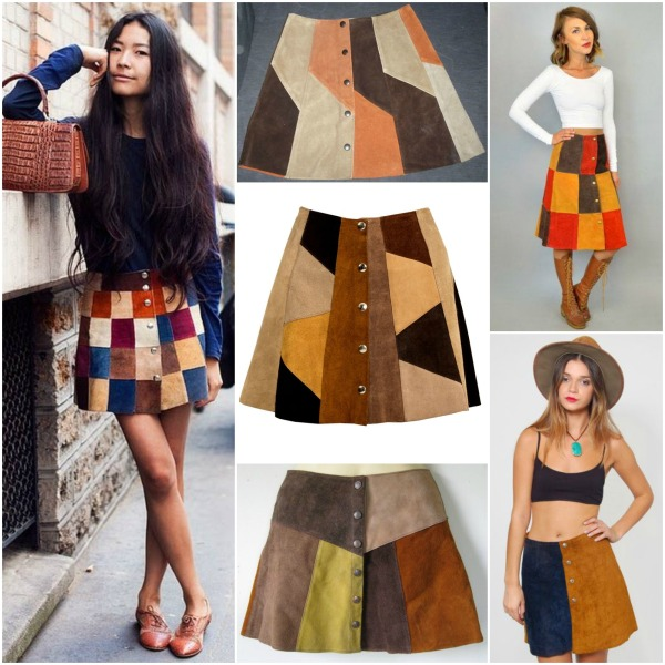 Inspiration: Patchwork Button-Down Skirt