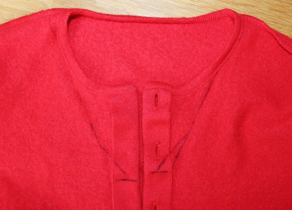 Refashion: Rote Strickjacke