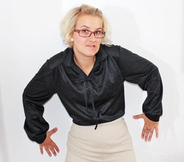 Ninutschkanns: Schwarze Bluse